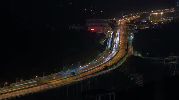 Thumbnail for Chungking City Overpass Road in Southwest China Timelapse
