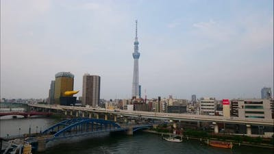 Beautiful Tokyo sky tree around with other building in Tokyo Japan