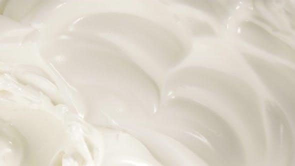 Thumbnail for Beaten egg whites slow panning 4K 2160p UHD footage - Whipped egg white cream for cake preparing 4K