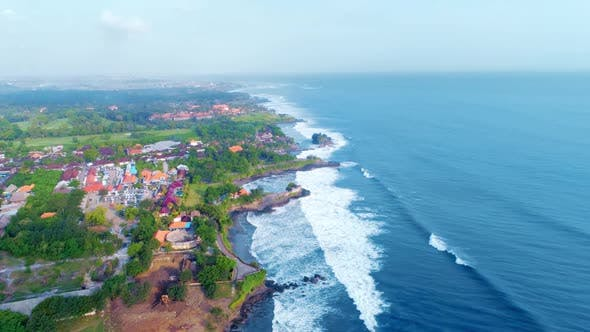 Thumbnail for Aerial Flight Along The Rocky Coast In Bali