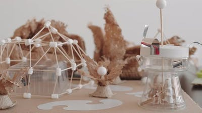 Children Crafts on Table