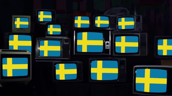 Thumbnail for Flag of Sweden on Multi Screen.