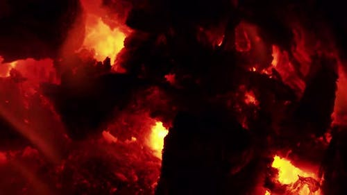 Wood And Coal Fire Magma Colors 3