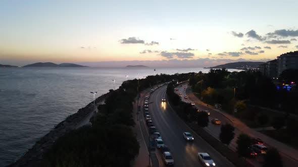 Sunset Coast Traffic