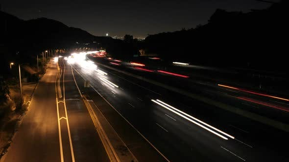 Thumbnail for Los Angeles Freeway Traffic Time Lapse