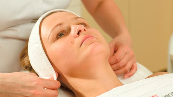 Thumbnail for Woman Being Prepared For Facial Spa Procedures
