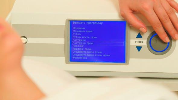 Einschalten und Einstellen von Kosmetologischen Geräten