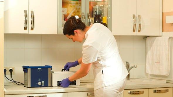Thumbnail for Female Beautician Starting Sterilization