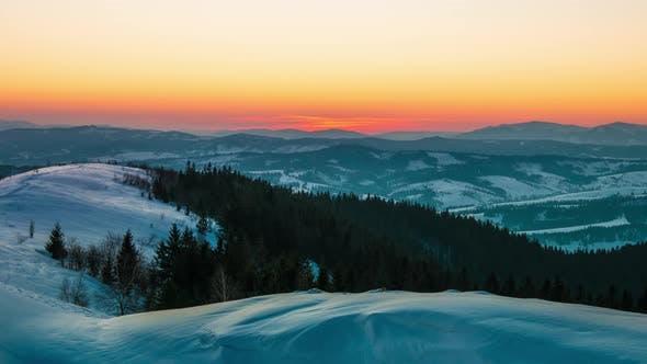 Thumbnail for Dawn Winter Mountain, Timelapse
