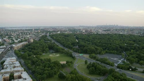 Aerial View of Bronx River Parkway