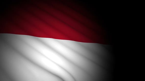 Thumbnail for Indonesia Flag Blowing in Wind