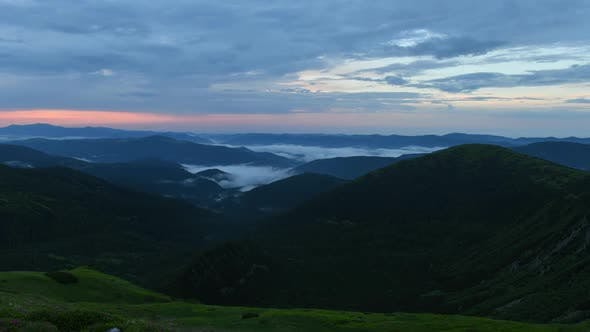 Thumbnail for Video Footage Timelapse of Carpathian Mountains