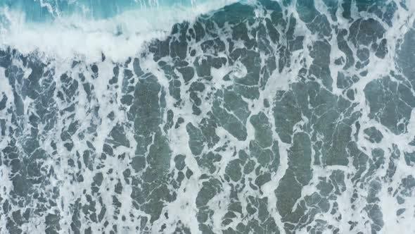 Ccean foam aerial view
