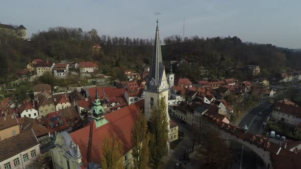 Aerial of Saint Jacob Church