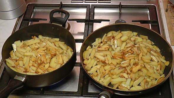Thumbnail for Two Frying Pan with French Fries 815
