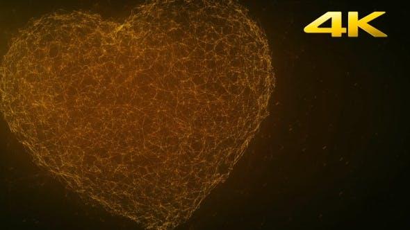 Thumbnail for Gold Plexus Heart Background 4K