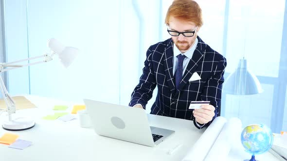 Thumbnail for Businessman Busy in Online Shopping, Designer Paying by Credit Card