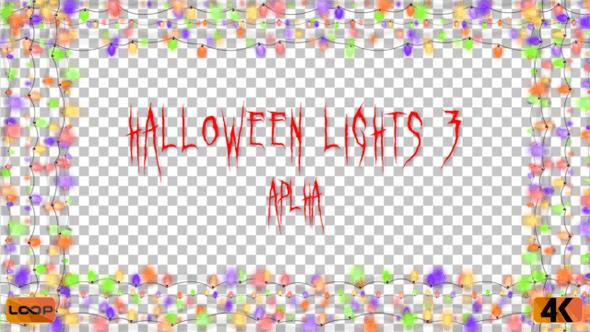 Thumbnail for Halloween Lights Frame Alpha 03