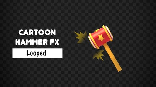 Isolated Comic Hammer FX Object