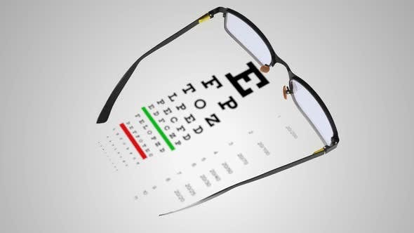 Spectacles with Eye Examination Chart 04