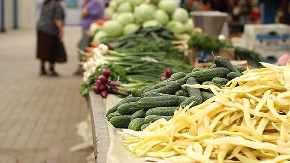 Thumbnail for Gesundes Gemüse auf dem traditionellen Markt