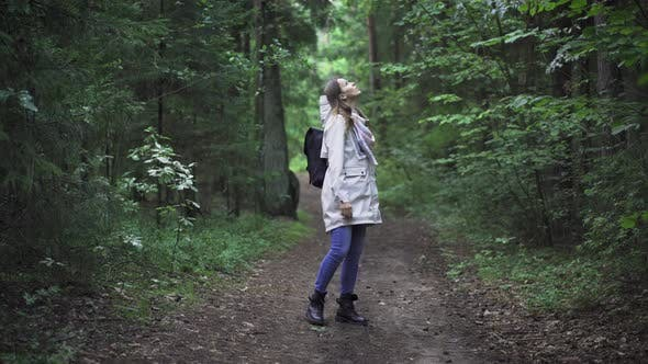 Cover Image for Young Woman Wondering In Wild Forest