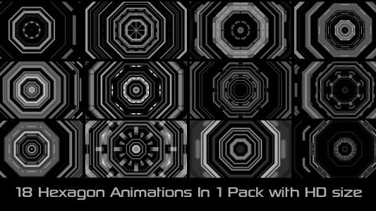 Thumbnail for Hexagon Elements Pack 02