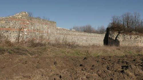 GAMZIGRAD, SERBIA - DECEMBER 25, 2017 Stronghold of Felix Romuliana palace built by Roman Emperor Ga