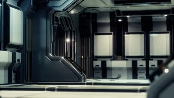 Thumbnail for Futuristic Sci Fi Spaceship Interior