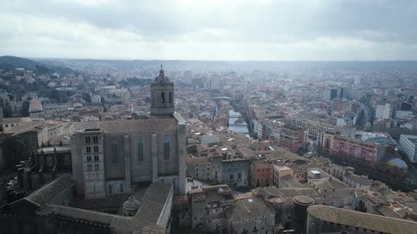Cover Image for Aerial Panorama Of Girona City Center