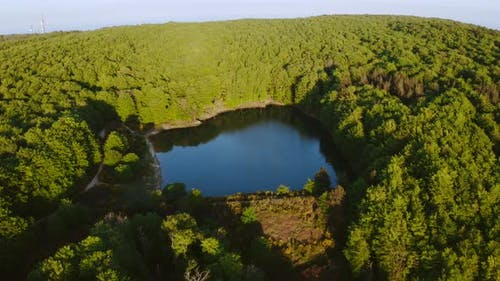 Aspromonte Park Mountain in Calabria with Lake