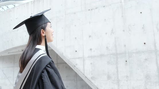 Thumbnail for Woman with Graduation Gown