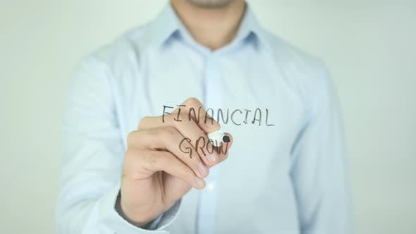Cover Image for Financial Growth, Writing On Screen