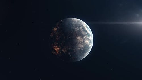 Inhabited Exoplanet - Establishing Shot of Alien World or a Future Human Colony