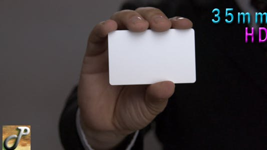 Thumbnail for Man Hand Showing Business Card