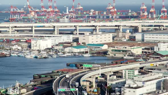 Thumbnail for Yokohama Sea Port Dockland Area Japan Timelapse