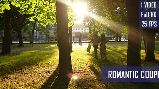 Thumbnail for Romantic Couple Walk On The Summer Evening