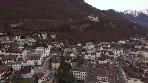 Vaduz aerial view