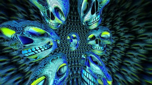 Carving metallic skulls space
