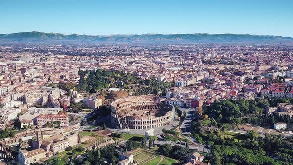 Thumbnail for Italy Rome Colosseum Aerial View