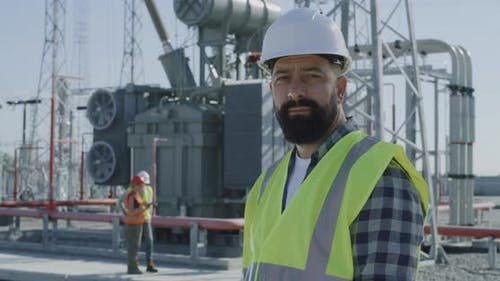 Bearded Constructor on Power Plant