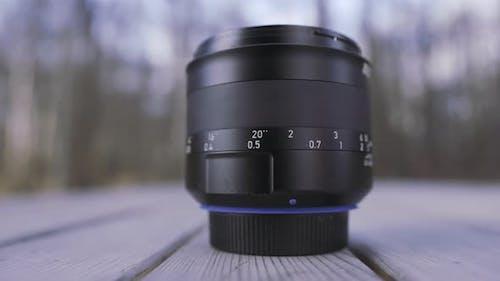 Professional camera lens detail