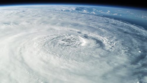 View From Space on the Cyclone Clouds Over the Planet