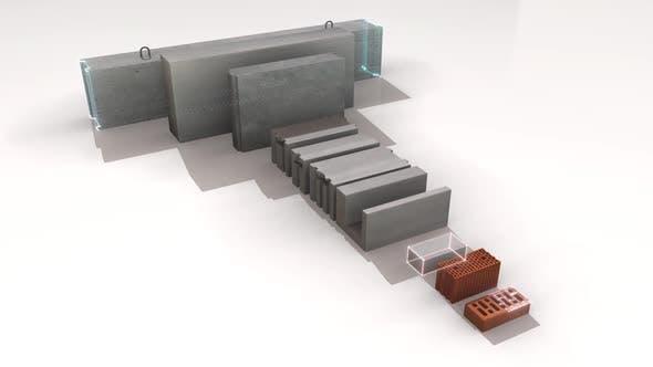 Concrete Production Set Of Construction Blocks Hd