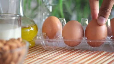 Close Up of Eggs in a Bowl