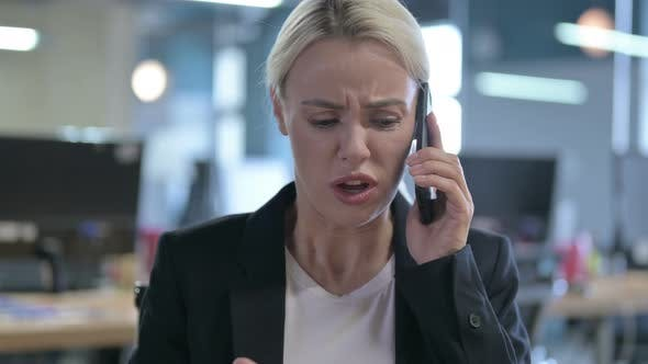 Thumbnail for Angry Businesswoman Scolding and Shouting During Phone Talk