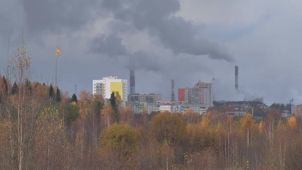 Cover Image for Smoke Coming Out From Chimneys Of Plant