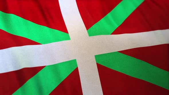 Basque Autonomous Community Flag Full Frame Loop
