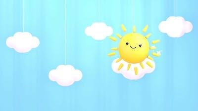 Cute Sun Curtain