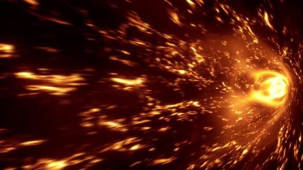 Spiral Flame Tunnel 4K 02